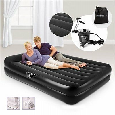 NEW Queen Size Bestway Inflatable Mattress Bed with Air Pump, Built-in Pillow