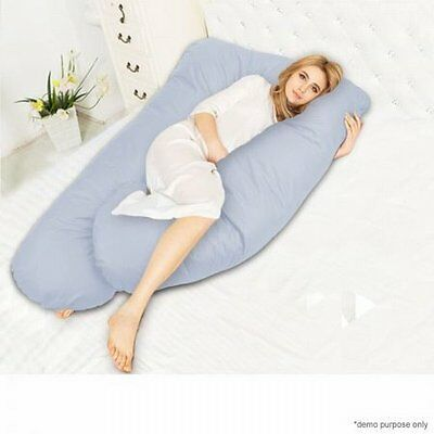 NEW 2-in-1 Two Legs Maternity Pregnancy Support and Feeding Pillow - Blue
