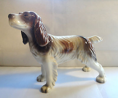 Large Vintage  Goldscheider Usa Porcelain Spaniel Dog Figurine