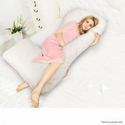 NEW Unique Design Maternity Pregnancy Belly Support & Feeding Pillow - White