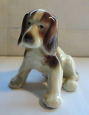 Vintage  Goldscheider Usa Porcelain Spaniel Puppy Dog Figurine