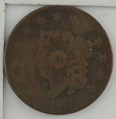 1831 Matron Head Large Cent ***Filled Hole *Z52