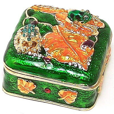Frog Jewelry Trinket Hinged Pill Box New Collectable  Decorative Ornament