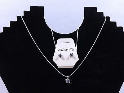 Natural Tanzanite Set in Sterling Silver great gift