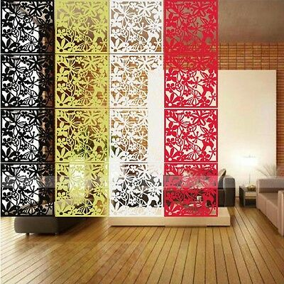 Butterfly Flower Hollow Hanging Screen Partition Room Divider Curtain Wall Decor