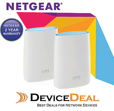 NETGEAR Orbi AC3000 Tri-band WiFi Router System RBK50 + Free 8 Ports Gig Switch