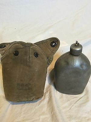 Rare Wwi Canteen With Canvas Cover