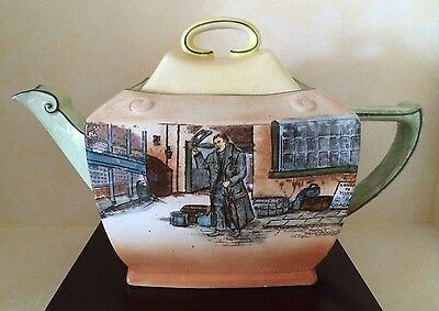 "Royal Doulton Dickens Ware Tea Pot ""Mr. Squeers"""