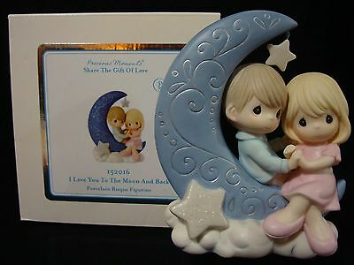 ct Precious Moments-Loving Couple-Moon & Stars-I Love You To The Moon And Back
