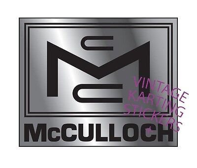 Vintage Go Kart, McCulloch Sticker, Decal, Reproduction