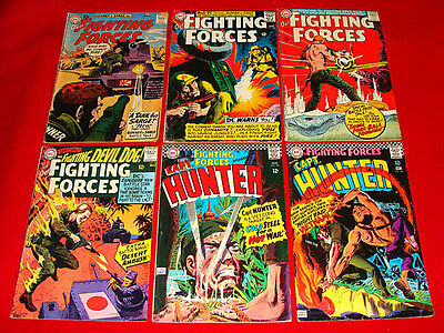9 Vintage DC Our Fighting Forces - War Comic Books 1960-77 Silver / Bronze Age