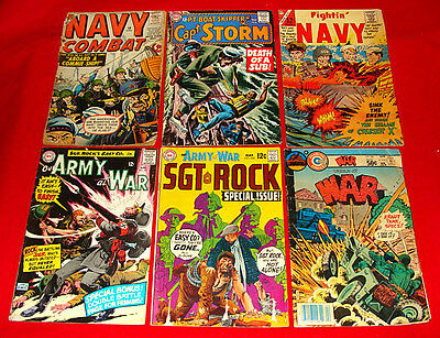 9 Vintage War Comic Books 1957-81 Silver & Bronze Age - WWII & other Stories