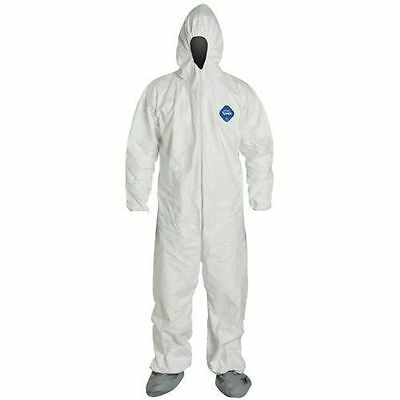 Dupont TY122S-XL Tyvek Coverall Suit,Elastic Wrist & Ankles+Hood & Boots