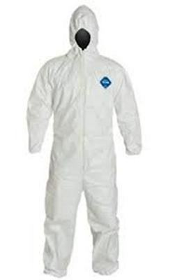 DuPont Tyvek TY127S-XL Coverall Elastic Wrists & Ankles+Hood-FREE SHIP