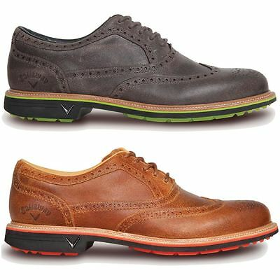 52%OFF RRP Callaway Monterey Mens Classic Leather Brogue Waterproof Golf Shoes