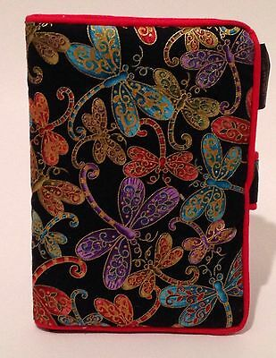 "Fabric Book Cover Oriental Butterfly Design Holds Paperback Books 5"" X 7"""