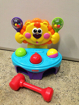 Fisher Price Lion Ball Hammer Toy