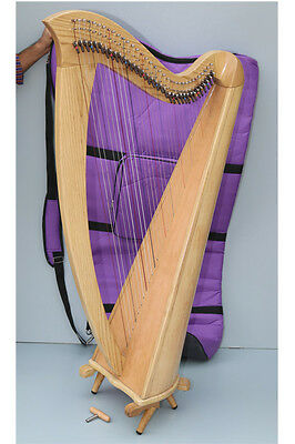 Mikel Saffron Lever Harp 34 Strings  with Deluxe Carry Bag VAT Free Delivery