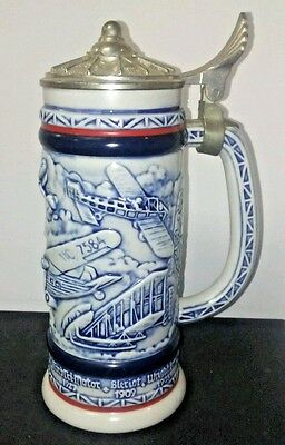 Vintage Avon Beer Stein 1981 Early Aircraft