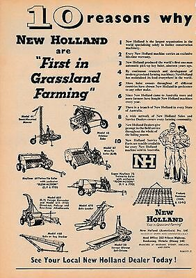 Fine   Original Advert.   ...new Holland....10 Reasons Why