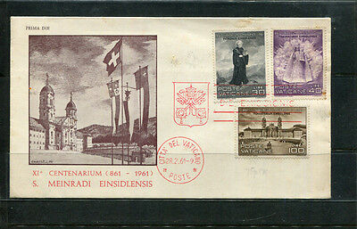 Vatican City Rome Italy 1961 Fdc First Day Stamp Cover