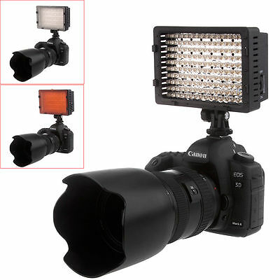 160 LED Studio Video Light for Canon Nikon DSLR Camera DV Camcorder New AL