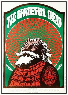 Grateful Dead POSTER  *AMAZING*  Live w/ Moby Grape & Steve Miller PSYCHEDELIC