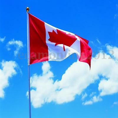 2x3' Canada Maple Flag Leaf Outdoor Canadian Polyester Banner With Grommets NEW