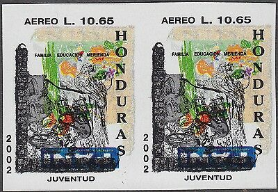 Honduras Familia Education Merienda Paintings Rare Imperforate Pair