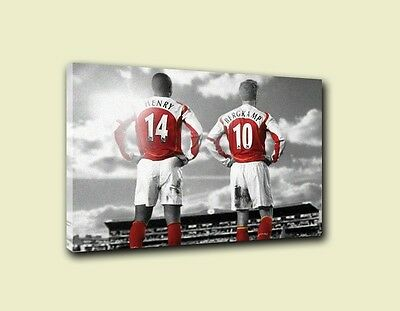 Thierry Henry & Dennis Bergkamp Wall Canvas A3