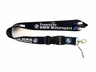BMW M M3 M5 M6 Motorsport Lanyard Neck Cell Phone Key Chain Strap Quick Release