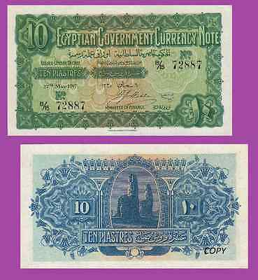 EGYPT 10 PIESTRES 1917.  UNC - Reproductions