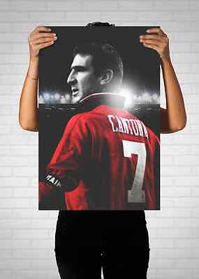 Eric Cantona Manchester United Number 7 Poster