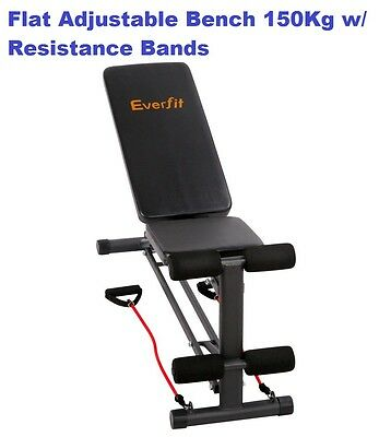 Adjustable Workout Bench Press Flat Incline Decline Weights Strength Fitness New