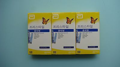 Optium Xceed Blood Glucose Test Strips 100 x 3box Expiry:01/2018