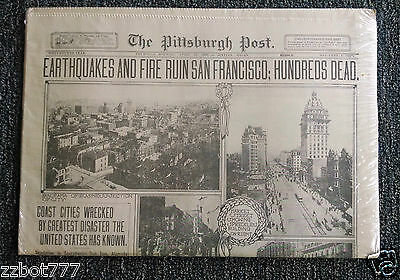 October 14 1906 Pittsburgh Post- Gazette Reissue Bucs Are Champs Newspaper