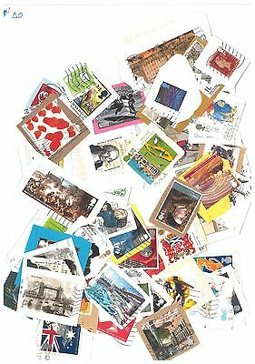 GB - 50 Commemorative Postage stamps as shown in picture. Kiloware (AO)