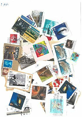 GB - 50 Commemorative Postage stamps as shown in picture. Kiloware (AM)