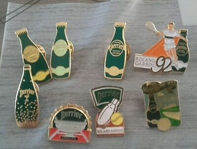 Lot De 8 Pins Perrier Roland Garros