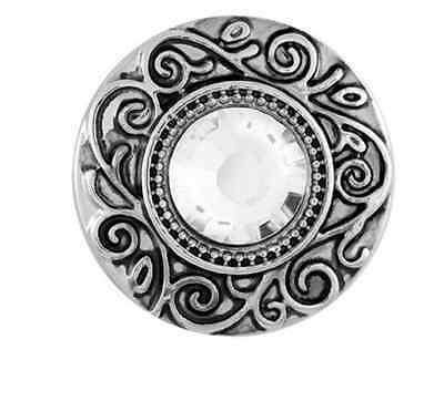 Buy 4, Get 5Th $6.95 Snap Free Ginger Snaps™ Jewelry Scroll Clear Stone Sn10-41