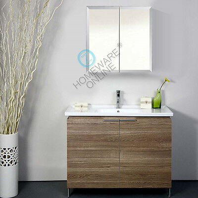 600x720x150mm Bevel Edge Mirror Shaving Cabinet Medicine Bathroom Vanity White