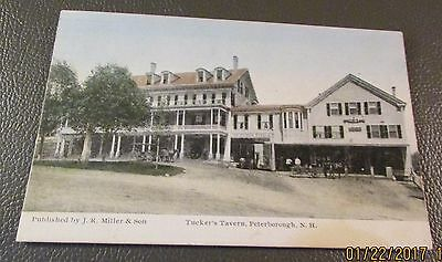 Old Postcard  PETERBOROUGH, NEW HAMPSHIRE   { TUCKER'S TAVERN-w/Horse & Buggy}