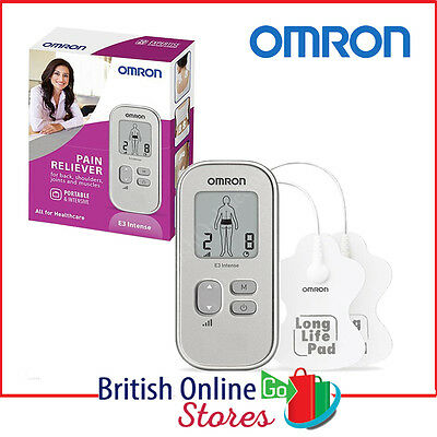 Omron E3 Intense Portable Drug Free Pain Reliever Long Life Pads