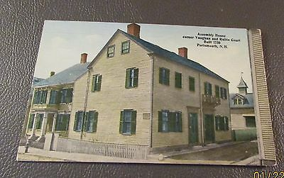 Old Postcard  PORTSMOUTH, NEW HAMPSHIRE   {THE OLD ASSEMBLY HOUSE-Built 1750}