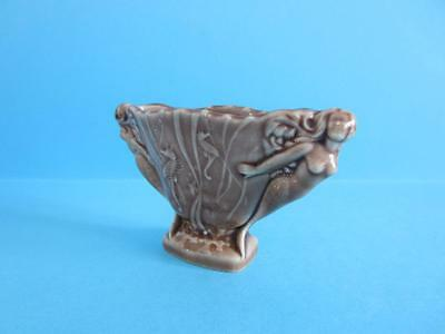 FANTASTIC VINTAGE WADE MYTHICAL MERMAID & SEA HORSE SMALL BROWN VASE *Mint*