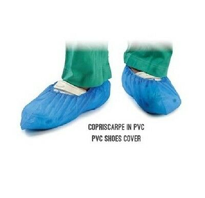100PZ Copriscarpe Copriscarpa Elasticità Blu Multiuso Monouso Shoes Covers