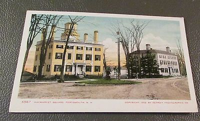 Old Postcard  PORTSMOUTH, NEW HAMPSHIRE   {EARLY HAYMARKET SQUARE--1902}