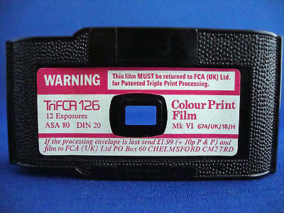126 Film Cartridge Casette Lomography Out of Date