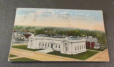 Old Postcard  CONCORD, NEW HAMPSHIRE   {STATE HISTORICAL BLDG.--1915}