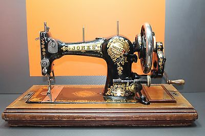 Vintage Jones 'Manchester' Sewing Machine With Case & Accessories